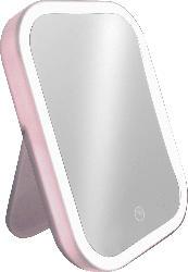 Soapland Standspiegel mit LED und rosa Rahmen