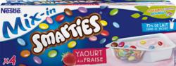Nestlé Joghurt Mix-in, Erdbeere mit Smarties, 4 x 120 g