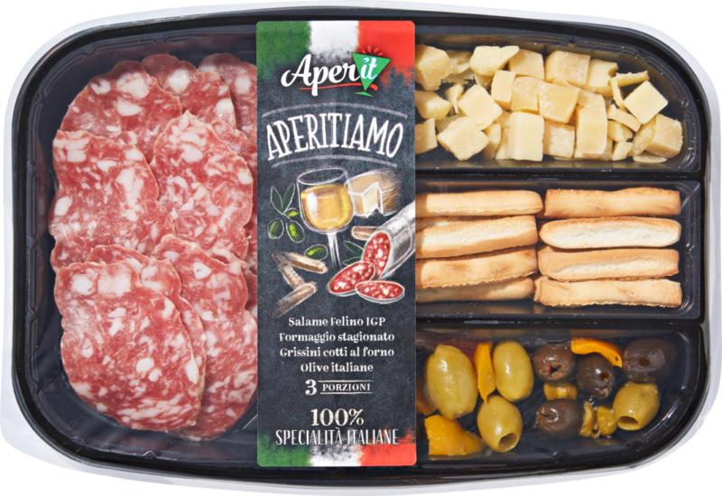 Barquette apéritive Aperitiamo , avec du salami Felino IGP, 150 g