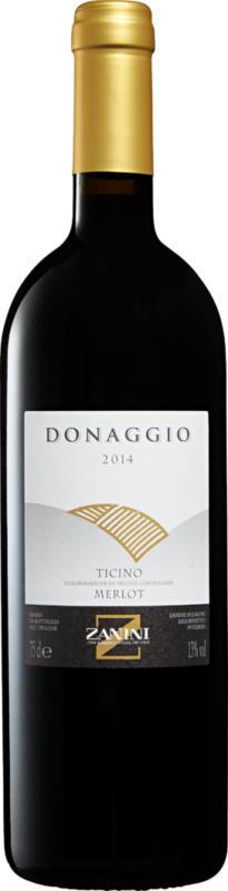 Zanini Donaggio Merlot del Ticino DOC, 2016, Ticino, Svizzera, 75 cl