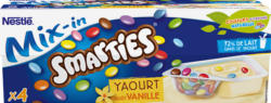 Yogurt Mix-in Nestlé, Vaniglia con Smarties, 4 x 120 g