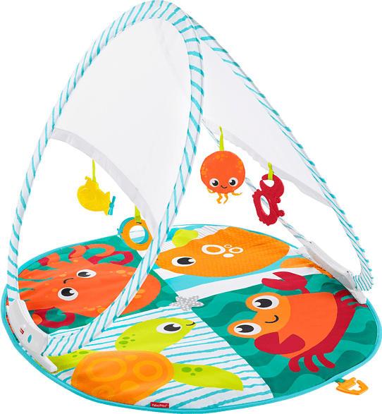FISHER PRICE Faltbare Meeres-Spieldecke Spieldecke, Mehrfarbig