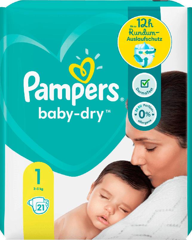 Pampers Windeln Baby Dry, Größe 1 Newborn, 2-5kg, Einzelpack