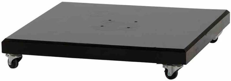 """Schirmständer """"Ferona"""" 90 kg, 76x76x13 cm, Granit schwarz, inkl. Rollen"""