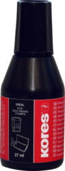 KORES Stempelfarbe 28 ml schwarz