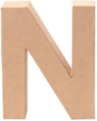 "Papp-Buchstabe ""N"" 17,5 cm natur"