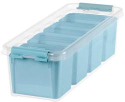 """SMARTSTORE Aufbewahrungsbox """"Pastell"""" inkl. Einsätze 4 Liter blau"""