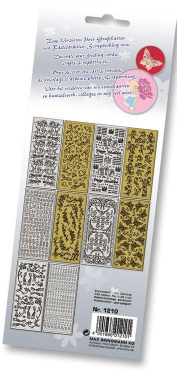 """FOLIA Relief-Sticker """"Ganzjahr"""" 10 Blatt mehrere Farben"""