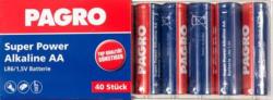 "PAGRO Batterie ""Super Power Alkaline AA"" 40 Stück"