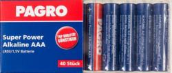 "PAGRO Batterie ""Super Power Alkaline AAA"" 40 Stück"