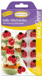 "GÜNTHART Figuren aus Zuckerguss ""Süsse Glückskäfer"" 15 Stück"
