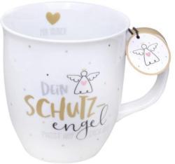 """SHEEPWORLD Tasse """"Dein Schutzengel"""" 0,4 Liter weiss"""