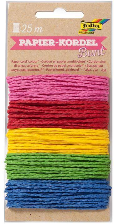 "FOLIA Papierkordel-Set ""Bunt"" 5 x 5 m mehrere Farben"