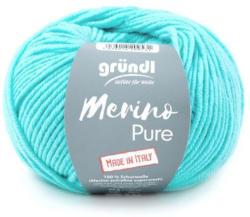 """GRÜNDL Wolle """"Merino Pure"""" 50g pastelltürkis"""