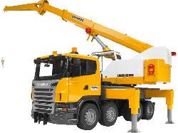 BRUDER Scania R-Serie Liebherr Kran-LKW, L+S LKW m. Funktion, Mehrfarbig