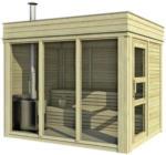 Möbelix Sauna Outdoor Wwc 2x3 mit Int. Steuerung 228,6x328,6x278 cm