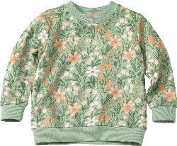 ALANA Kinder Pullover, Gr. 104, in Baumwolle, grün, rosa