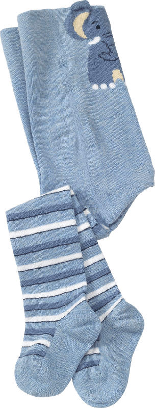 ALANA Baby Strumpfhose, Gr. 86/92, in Bio-Baumwolle und Elasthan, blau