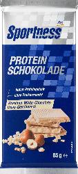 Sportness Protein-Schokolade, Hazelnut-White-Chocolate-Crisp-Geschmack