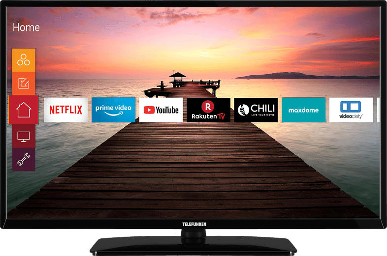 TELEFUNKEN D32F551R1CWI LED TV (Flat, 32 Zoll/80 cm, Full-HD, SMART TV)
