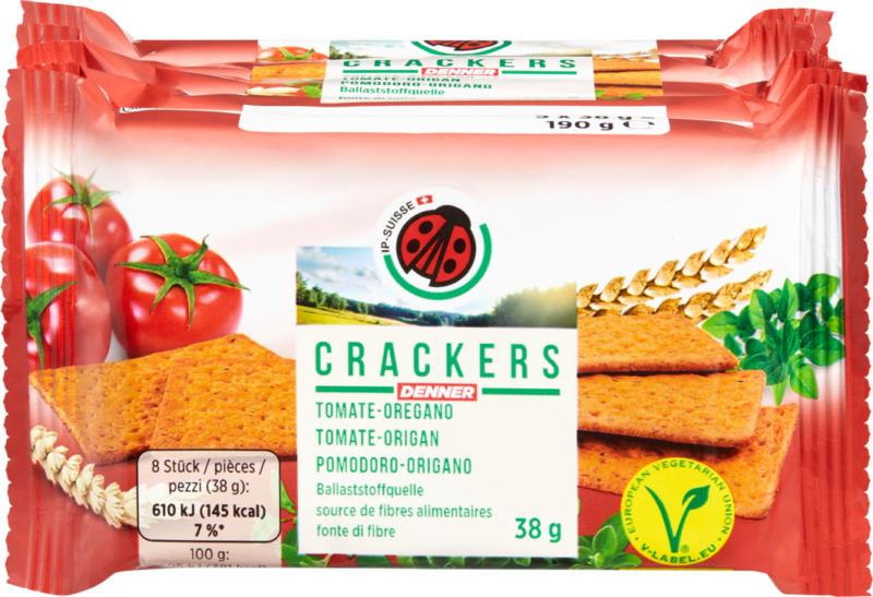 IP-SUISSE Crackers , Tomate-Oregano, 5 x 38 g
