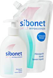 Sapone liquido Sibonet, Dispenser, 250 ml, e ricarica, 500 ml