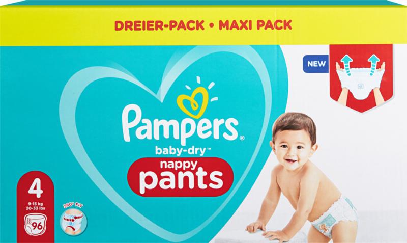 Pampers Baby-Dry Pants , Misura 4 (Maxi), 9-15 kg, 96 pezzi