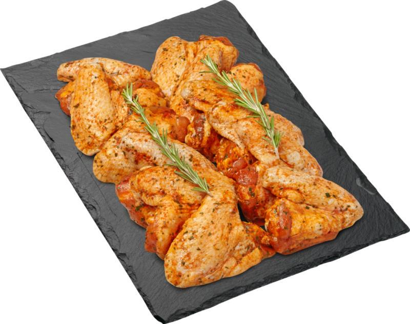 Ailes de poulet BBQ Denner, épicées, Suisse, env. 1000 g, le kg