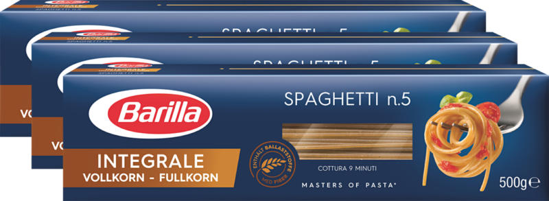 Barilla Spaghetti Integrale, 3 x 500 g