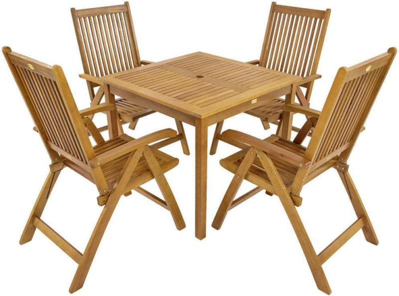 Gartenmöbel Set 5-Tlg. Bangor Aus Eukalyptusholz