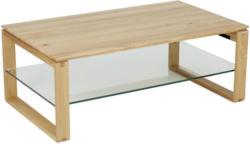 Couchtisch in Holz, Glas 120/70/45 cm