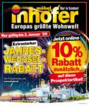 Möbel Inhofer Jahreswechselrabatt - bis 03.01.2021