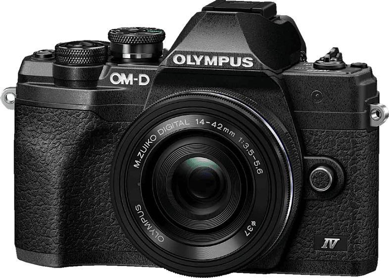 OLYMPUS OM-D E-M10 Mark IV Pancake Kit, 14-42mm F3.5-5.6, kompakte Selfie Systemkamera 20.1 Megapixel  , 7.6 cm Display   Touchscreen, WLAN