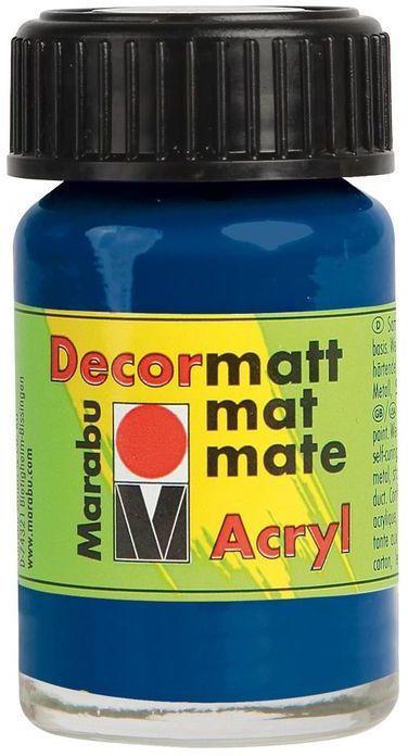 "MARABU Acrylfarbe ""Decormatt Acryl""15 ml dunkelblau"