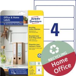 "AVERY ZWECKFORM Recycling Ordner-Etiketten ""LR4761-10"" 61 x 192 mm 10 Blatt weiß"