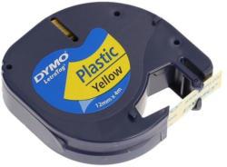 """DYMO Beschriftungsband """"Letra Tag"""" aus Kunststoff 12 mm x 4 m schwarz auf gelb"""