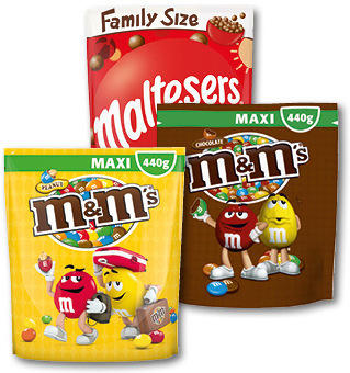 M&Ms FAMILY PACK 340-440G
