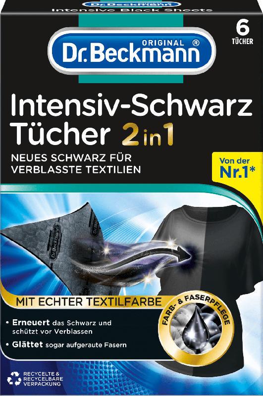 Dr. Beckmann Farbtücher Intensiv-Schwarz  2in1