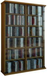 CD Regal mit Glastüren Roma 60 cm Eiche Dekor