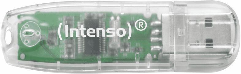 INTENSO Rainbow USB-Stick, Transparent, 32 GB