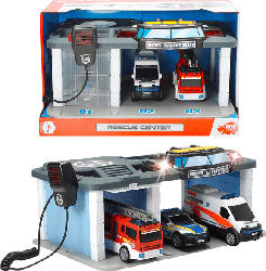 DICKIE TOYS Rescue Center Spielset, Mehrfarbig