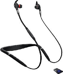 JABRA PC-HS Evolve 75e UC inkl. Link 370 Stereo Bluetooth Headset, Schwarz