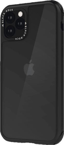 BLACK ROCK Robust Transparent , Backcover, Apple, iPhone 11 Pro Max, Kunststoff, Schwarz