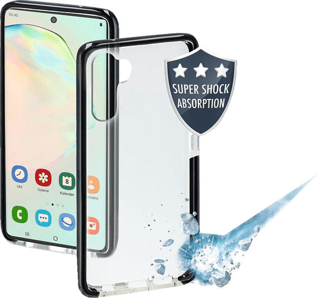 HAMA Protector , Backcover, Samsung, Galaxy Note 10, Thermoplastisches Polyurethan, Schwarz/Transparent