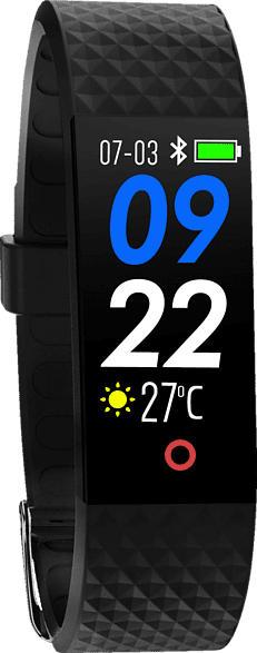 SWISSTONE  SW 320 HR Fitnesstracker, Thermoplastische Polyurethan, 220 mm, Schwarz