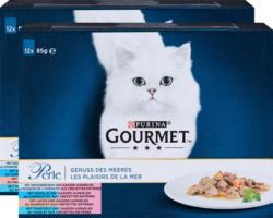Cibo per gatti Gourmet Perle Purina, Sapori del mare, 2 x 12 x 85 g