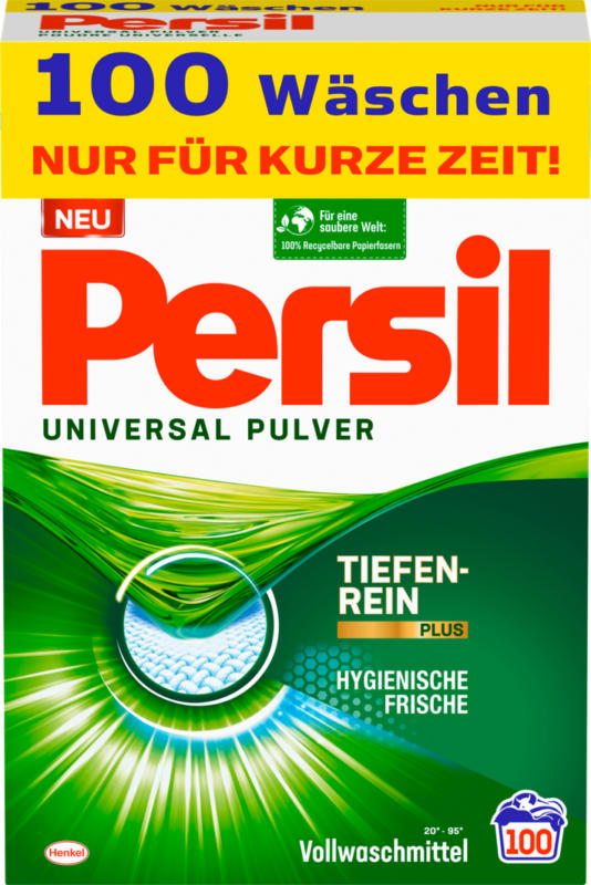 Persil Waschpulver Universal, 100 Waschgänge, 6,5 kg