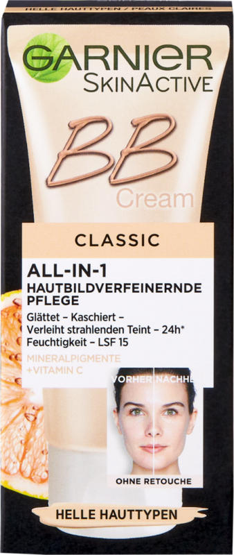 Garnier BB Cream Classic, Miracle Skin Perfector, helle Haut, 50 ml