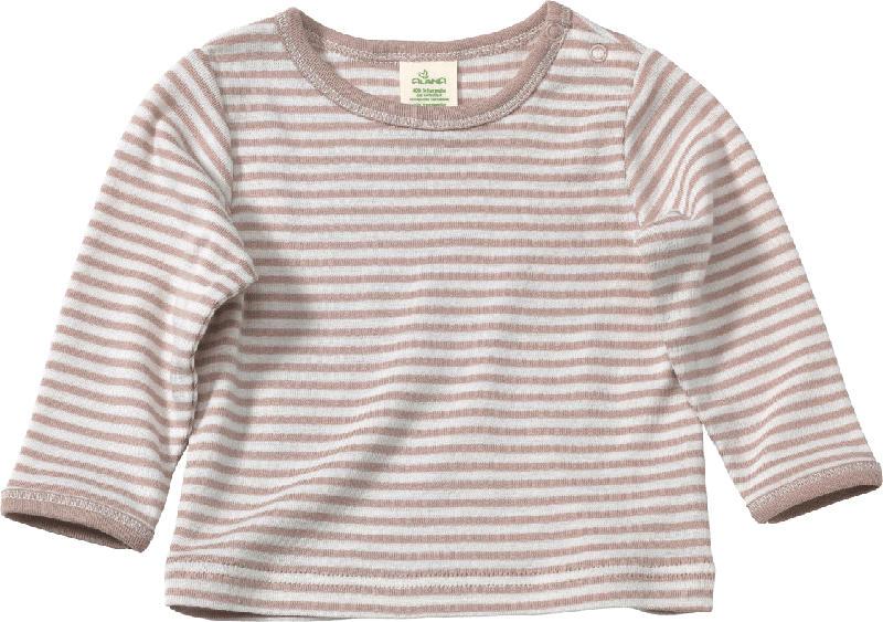 ALANA Baby Langarmshirt, Gr. 68, in Bio-Schurwolle, Bio-Baumwolle und Seide, beige
