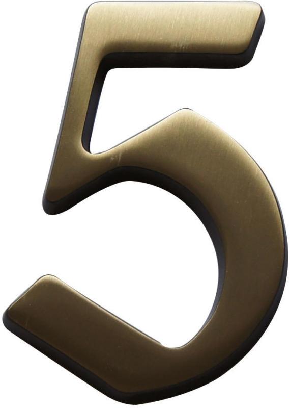 """Hausnummer """"5"""", brüniert"""